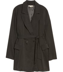 plus size women's standards & practices belted blazer