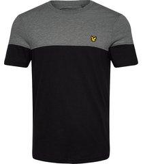 chest block t-shirt t-shirts short-sleeved grå lyle & scott sport