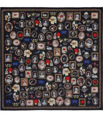 alexander mcqueen cameo and curiosities wool scarf