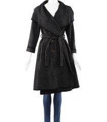 lanvin woven belted jacket