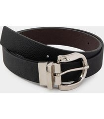 rowan rounded buckle belt - black
