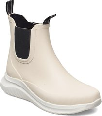 short rubber boots regnstövlar skor beige ilse jacobsen