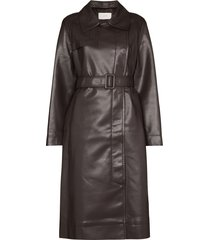 lvir belted trench coat - brown