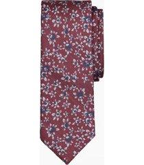 corbata floral rojo brooks brothers