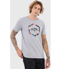camiseta billabong access iii cinza - cinza - masculino - dafiti