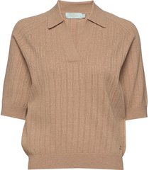 estee knit t-shirts & tops knitted t-shirts/tops beige morris lady