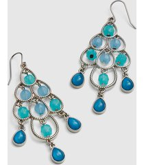 lane bryant women's brunch to beach beaded chandelier earrings onesz pastel turquoise