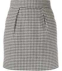 alexandre vauthier houndstooth fitted skirt - black