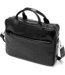 skórzana torba na laptop brodrene r12 czarny