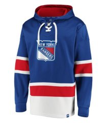 majestic new york rangers men's power play lace up hoodie