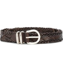 eleventy braided buckle belt - brown