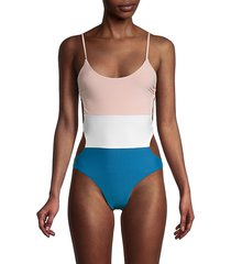colorblock cutout one-piece swimsuit