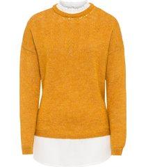 maglione 2 in 1 con trafori (giallo) - bodyflirt