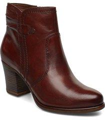boots shoes boots ankle boots ankle boots with heel brun tamaris