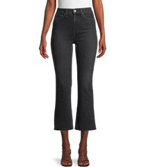 rag & bone women's nina high-rise kick flare jeans - black - size 24 (0)