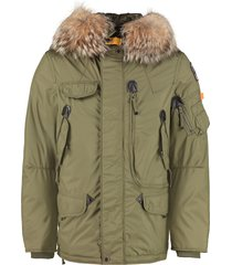 parajumpers right hand light padded parka with fur hood