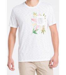 camiseta mc regular silk flam rolo gc - branco - pp