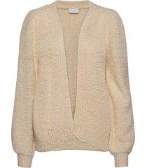 vibossa knit puff l/s cardigan stickad tröja cardigan beige vila