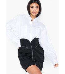 nly trend cargo zip skirt minikjolar