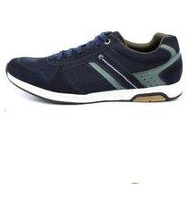 sapatenis tenis confort de couro masculino azul marinho