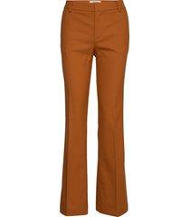 farrah twiggy pant pantalon met rechte pijpen oranje mos mosh