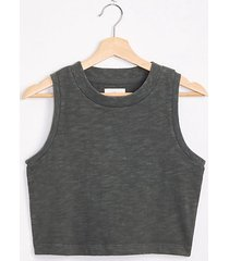 lou & grey cropped cozy jersey tank