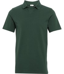 m. lycra polo t-shirt polos short-sleeved grön filippa k