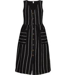 button-front midi dress knälång klänning svart gap