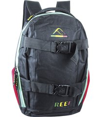 mochila negra reef porta skate porta notebook 18