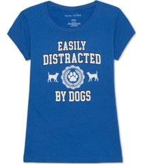 love tribe juniors' dogs graphic t-shirt