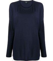aspesi longsleeved wool t-shirt - blue