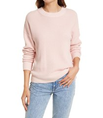women's treasure & bond thermal stitch pullover, size x-large - pink