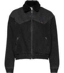 80´s sherpa jkt black st jeansjack denimjack zwart wrangler
