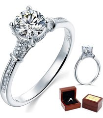 1 ct lab created diamond affordable cathedral promise ring 925 sterling silver