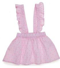 overall corto rosado  offcorss
