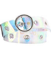 o-ring buckle iridescent pattern y2k waist belt
