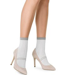 iljana metallic trim socks