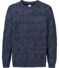 maglione a trecce (blu) - john baner jeanswear