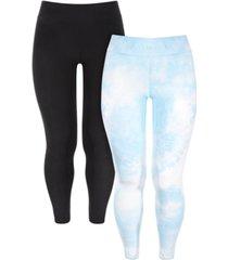 derek heart trendy plus size 2-pk. high-waist leggings