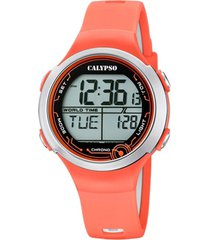 reloj digital crush naranja calypso