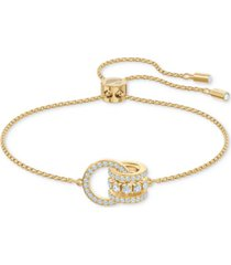 swarovski crystal interlocking loops slider bracelet