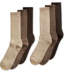gold toe men's 6-pk. harrington extended crew socks