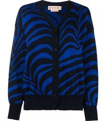 marni swirl knit cardigan - black