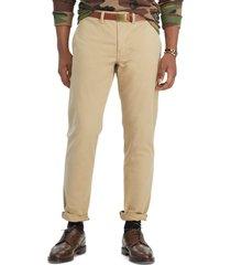 pantalon stretch slim fit beige polo ralph lauren