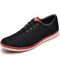 sapatênis masculino casual top franca shoes preto