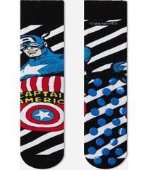 calzedonia marvel pattern non-slip cotton socks man print size tu