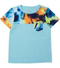toddler boys short sleeve tie-dye pocket t-shirt