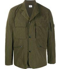 c.p. company memri multi-pocket jacket - green