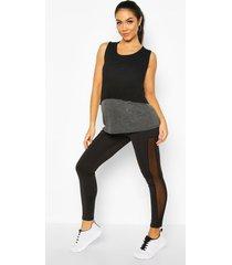 maternity mesh insert overt the bump legging, black