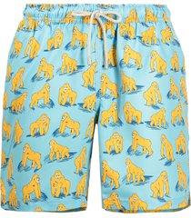 bluemint gorilla print swim shorts